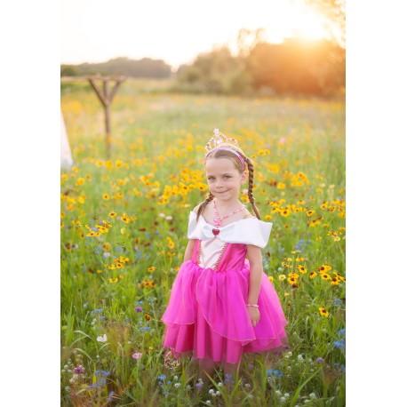 Vestido de princesa rosa (5-6 años)