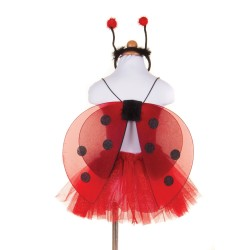 Disfraz de mariquita con alas, falda y diadema (4-7 años)