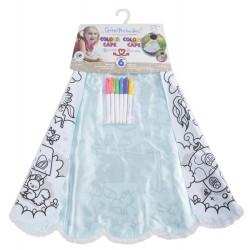 Capa mágica de princesa para colorear (4-7 años)