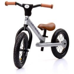 Bicicleta de equilibrio Trybike de acero gris plateado