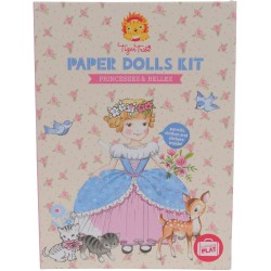 Kit de muñecas de papel, bellas y princesas (Paper Dolls Kit Princesses & Belles)