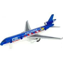 Avión reactivo azul