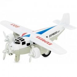 Avión de mensajería blanco