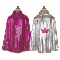 Capa reversible Wonder rosa/plata (5-6 años)