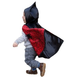Disfraz reversible hombre araña y murciélago