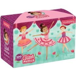 Puzle de 100 piezas con purpurina de bailarinas