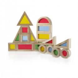 20 bloques de construcción arco iris