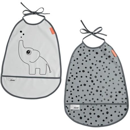 Pack de 2 Baberos impermeables Elphee Gris