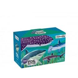 Puzle de 100 piezas con textura de tiburones