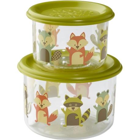 Set de 2 fiambreras pequeñas What did the fox eat?