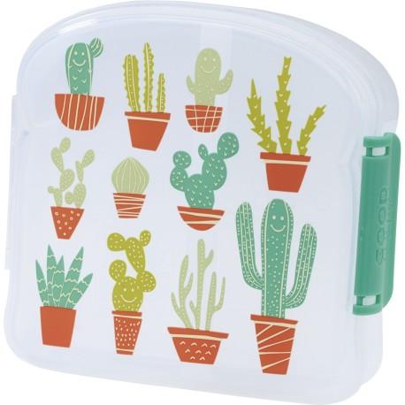 Fiambrera con 2 compartimentos Happy Cactus