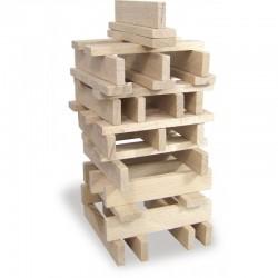 Juego de construcción de 100 bloques de madera (100 planchettes en bois massif).