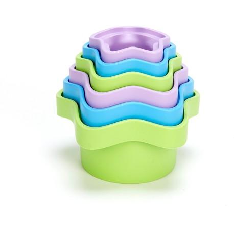 Cubos apilables de 6 piezas de plástico eco