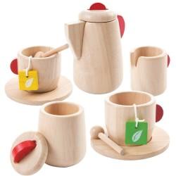 Set de madera de la hora del té