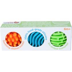Set de 3 pelotas sensoriales de silicona