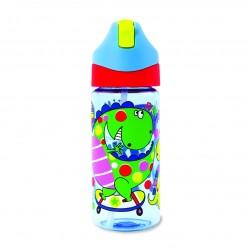 Botella infantil de Tritán con caña Dinosaurios