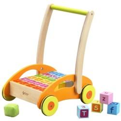 Caminador 2 en 1 con bloques de madera
