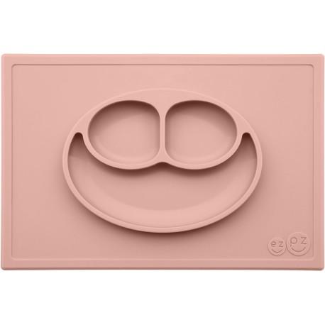 Vajilla infantil de silicona The Happy Mat rosa palo (blush)