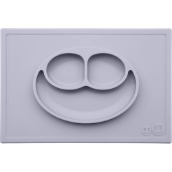 Vajilla infantil de silicona The Happy Mat gris claro (pewter)