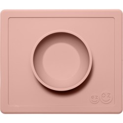 Vajilla infantil de silicona The Happy Bowl rosa palo (blush)