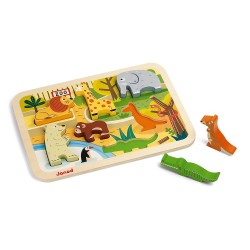Puzle de madera Zoo