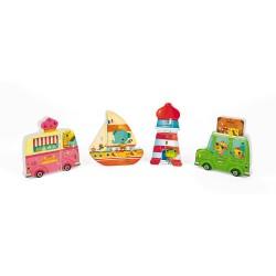Caja de 4 puzles 3D Holidays