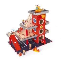 Parque de bomberos de madera