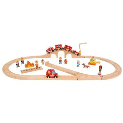 Circuito de madera de los bomberos