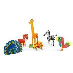 Animales 3D para colorear