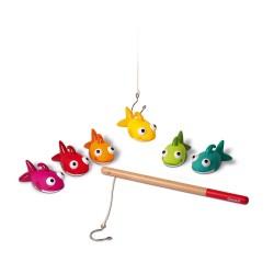 Juego de pesca con caña de madera Fishy