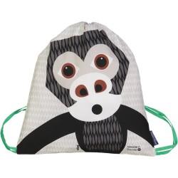 Mochila de cordones gris Gorila