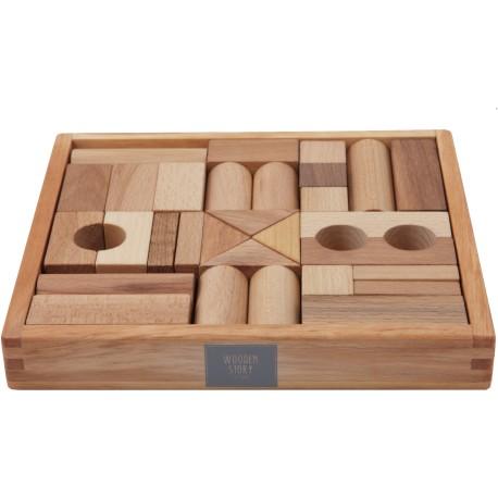 30 Bloques de construcción de madera
