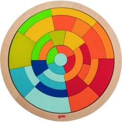 Puzle circular de madera Arcoíris