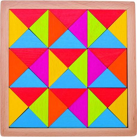 Juego de mosaico Arcoíris de madera II