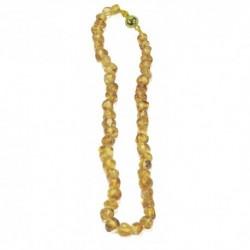 Collar de joyas ámbar claro largo