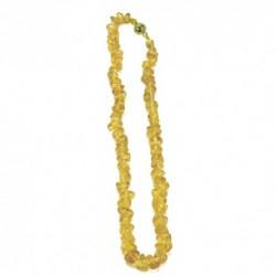 Collar de joyas ámbar claro corto