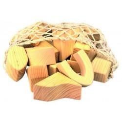 17 Bloques de construcción de madera