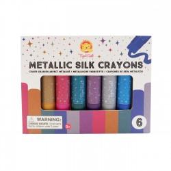 Crayones pequeños metálicos y divertidos