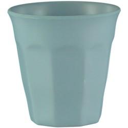 Vaso pequeño de bambú de color azul