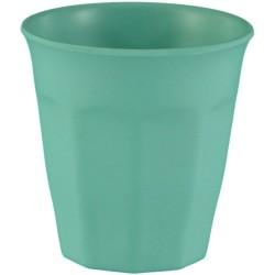 Vaso pequeño de bambú de color turquesa