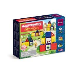 Set de construcción de casas (28 piezas magnéticas)