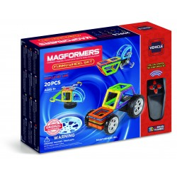 Set de construcción de vehículos (20 piezas magnéticas)