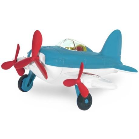 Avioneta con triple hélice