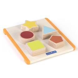 Tabla para encajar formas de colores de madera