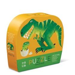 Mini puzle del dinosaurio y su cría de 12 piezas