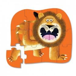 Mini puzle del león de 12 piezas