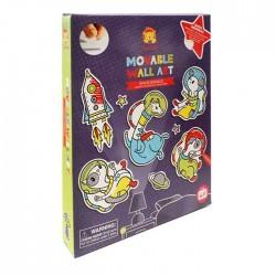 Pegatinas removibles y personalizables para decorar de los animales espaciales