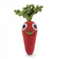 Sonajero eco con forma de zanahoria