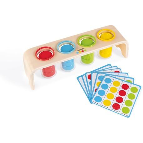 """Juego de ingenio de madera para clasificar colores """"Essentiel"""""""
