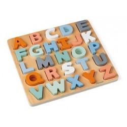 Puzle de madera del abecedario para encajar Sweet Cocoon